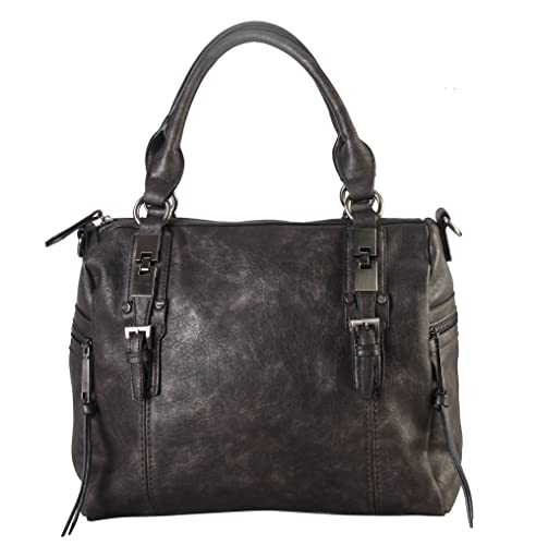 Diophy Double Side Pockets Casual Tote with Removable Long Strap CZ-3722