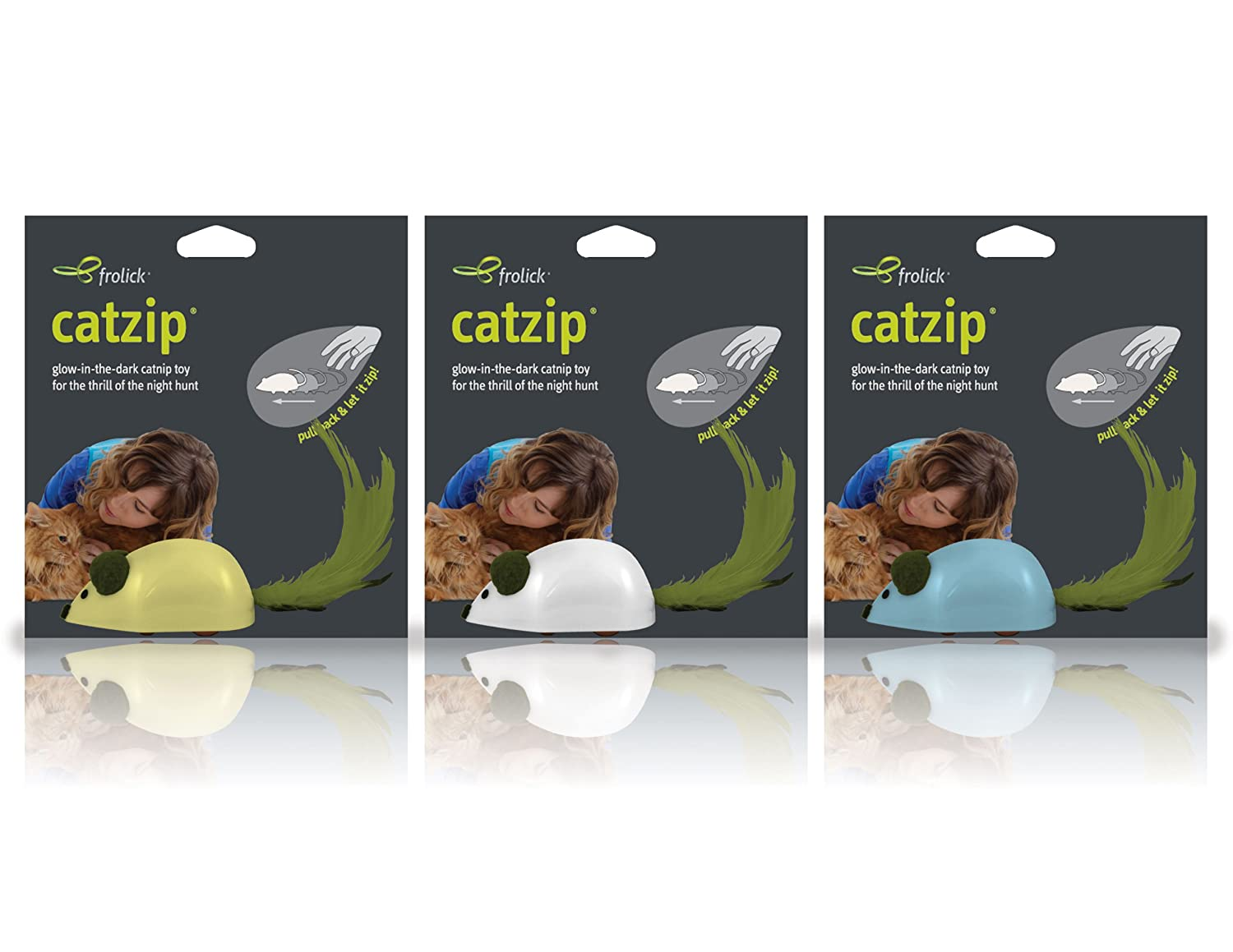 Dogmatic CatZip Chase Glow in the Dark Version, Assorted colors