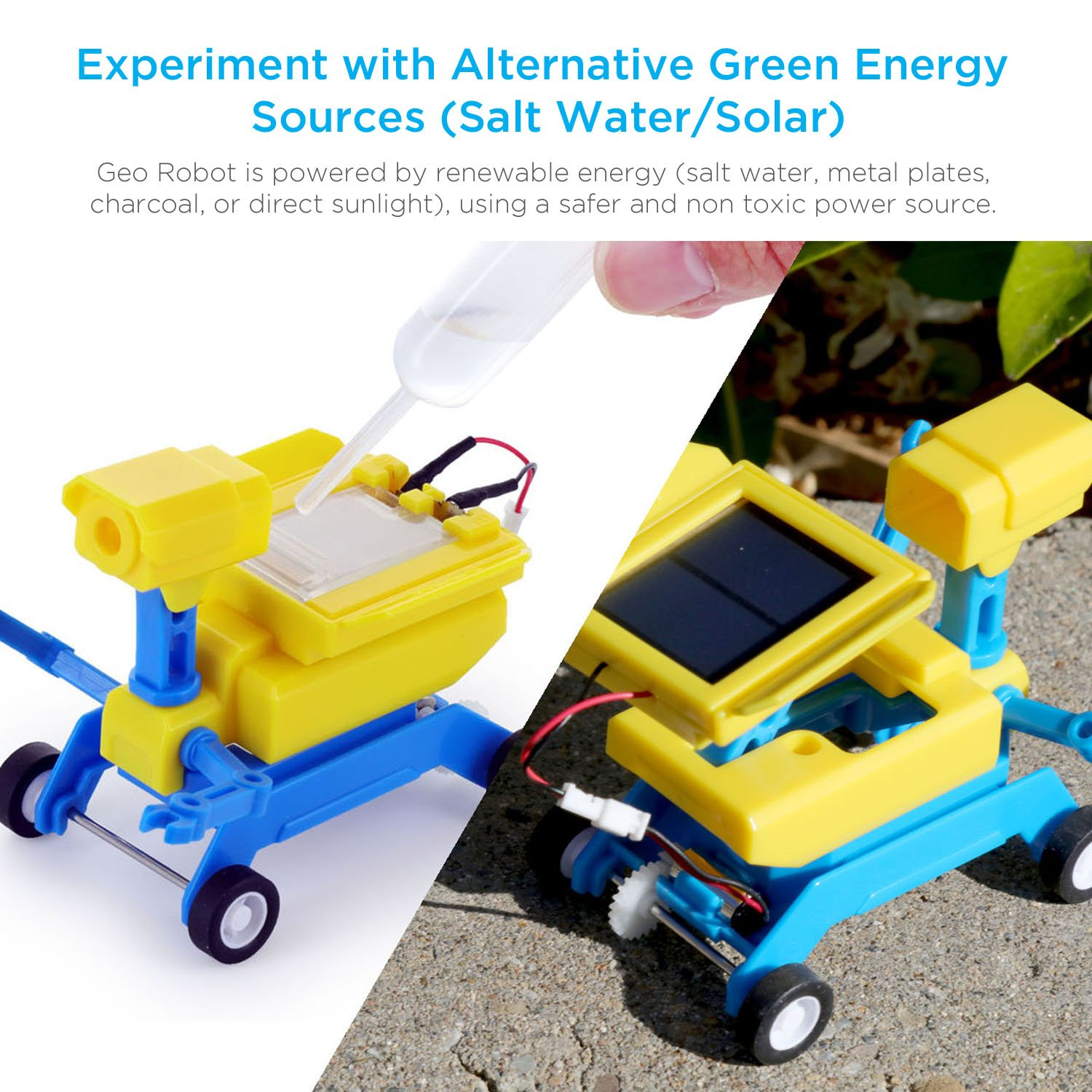 Amazon Tenergy Odev Geo STEM Toy DIY 2 in 1 Salt Water Solar