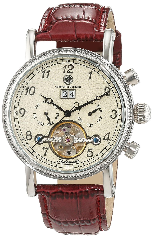 Constantin Durmont San Juan CD-SANJ-AT-LT-STST-CR - Reloj de caballero, color de la correa: rojo