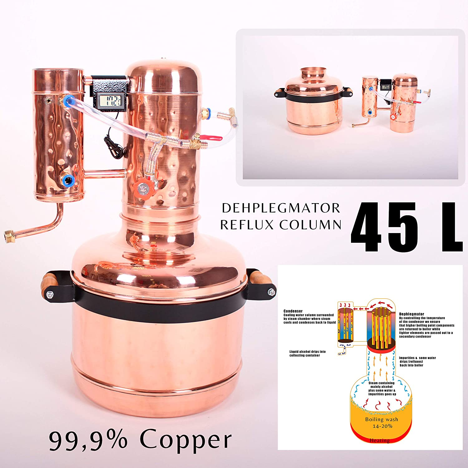 Amazon com: Copper Moonshine Still Alembic Distiller Alcohol
