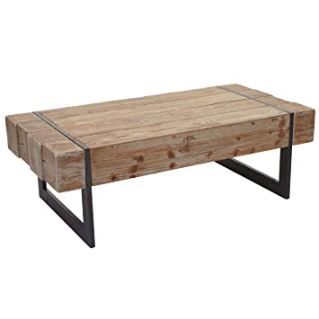 Mendler Couchtisch Hwc A15a Wohnzimmertisch Tanne Holz Rustikal