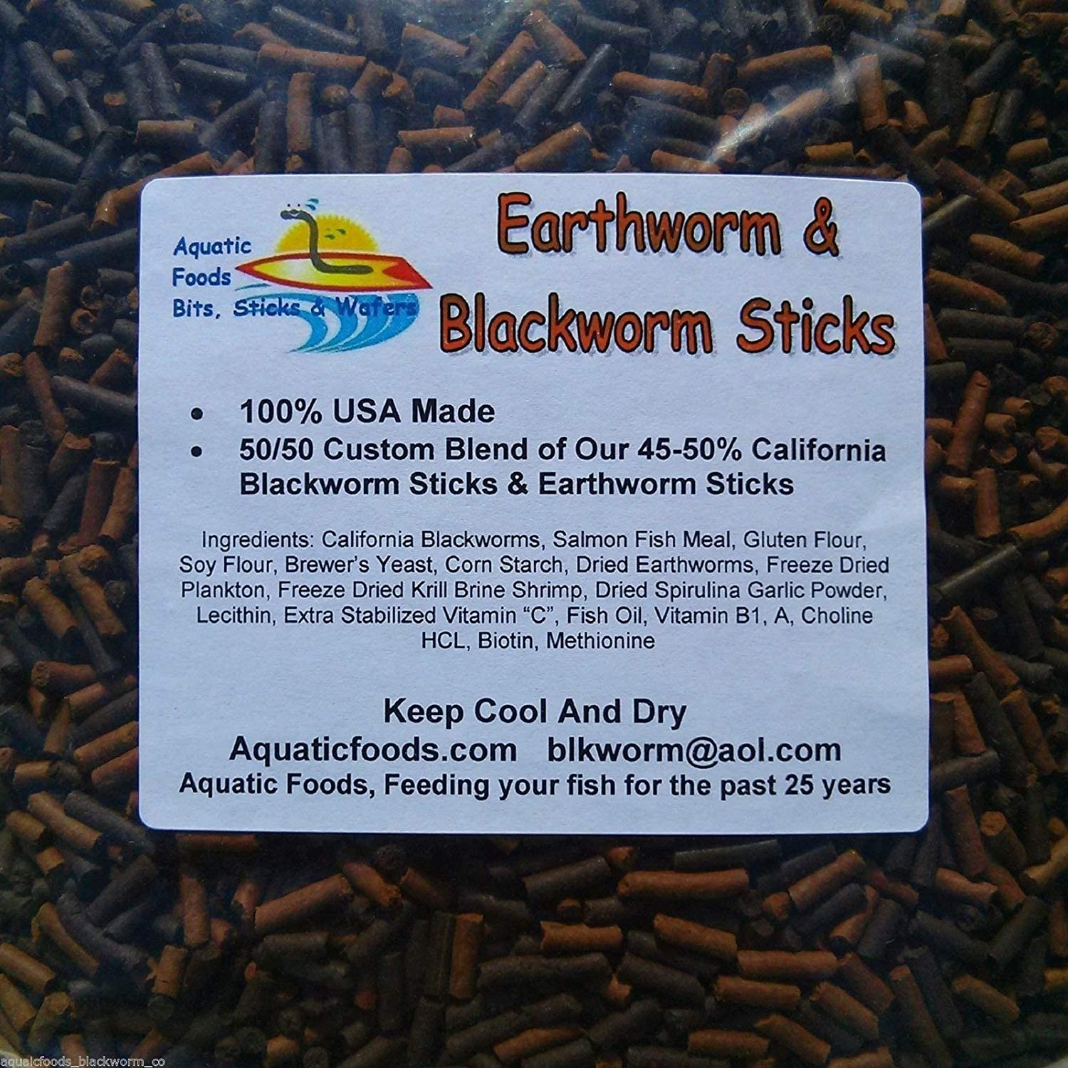 Beef Heart /& Blackworm Bit//Sticks for Shrimp /& Axolotls and More