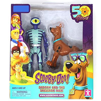 Scooby-Doo 50 Years Scooby and The Skeleton Man Action Figure 2 Pack: Toys & Games [5Bkhe1104811]