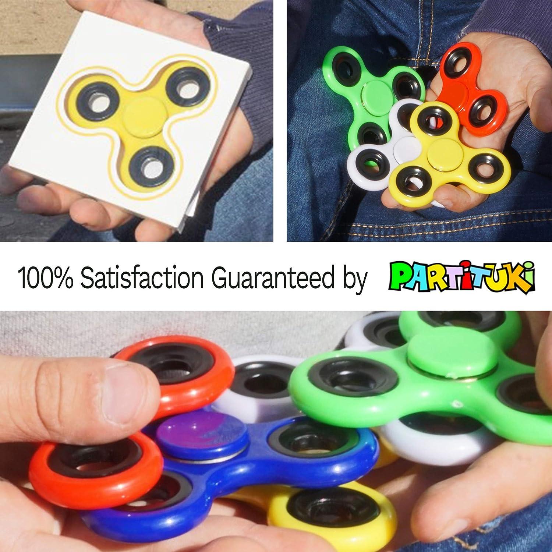 Partituki Pack de 10 Spinners de Metal. Idea Genial para Regalos de Cumpleaños para los Niños de la Clase, Regalos de Comuniones, Bodas…: Amazon.es: Juguetes y juegos