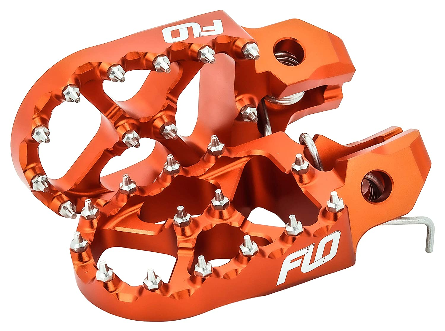 KTM Foot Pegs for 50-525 SX//SXF FPEG-795ORG Fits Flo Motorsports Foot Pegs