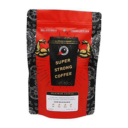 Maximum Charge Strong Coffee | Imported from the UK | 1101mg Caffeine | Ground | 1lb