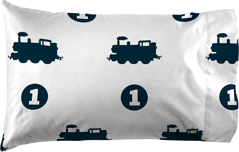 Thomas the Tank Engine Choo Choo White//Blue 3 Piece Twin Sheet Set