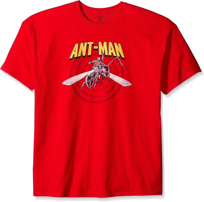 Marvel Comics Ant Man Medium Mens Black T-shirt Red Film Logo Avengers Official