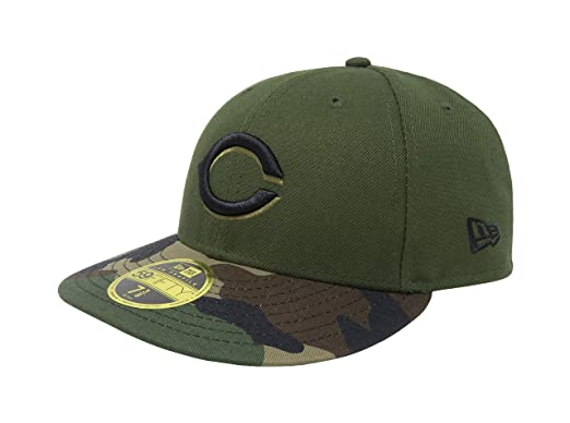 new product 1e6fa 0dbba New Era 59Fifty Hat MLB Cincinnati Reds Low Profile Crown Alternate Green  Cap (6 7