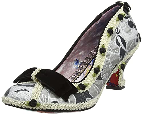 Irregular Choice - Zapatos de Tacón con Punta Cerrada de Tela Mujer, Color Negro, Talla 36