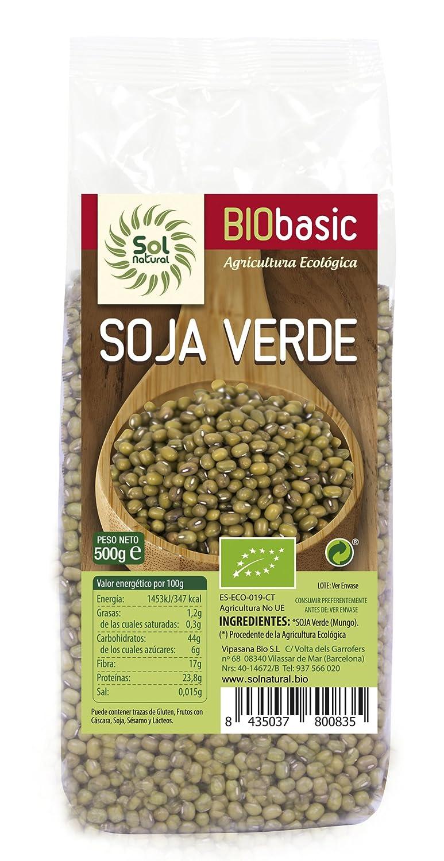 Sol Natural Soja Verde - Paquete de 20 x 500 gr - Total: 10000 gr: Amazon.es: Alimentación y bebidas