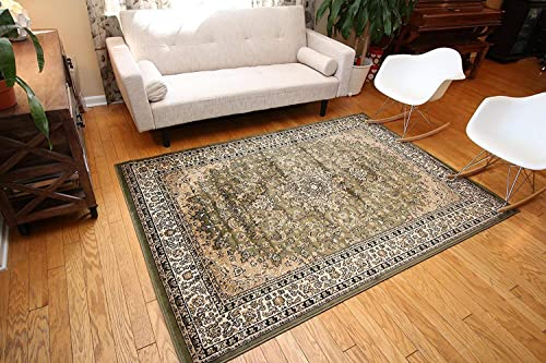 Feraghan New City Traditional Isfahan Wool Persian Area Rug, 2 x 3 , Sage Green
