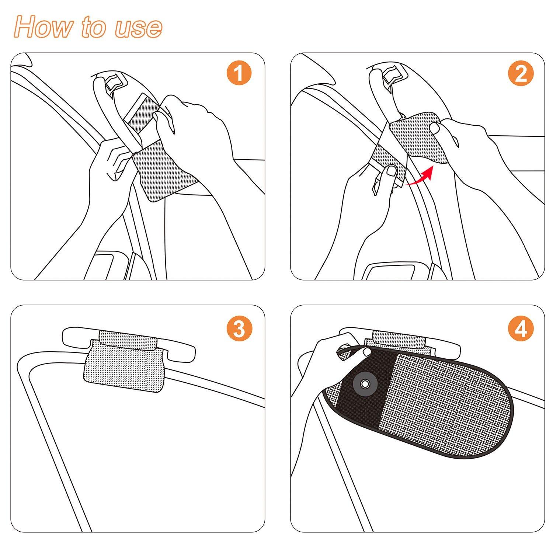 TFY Maniglia Parasole da Ttettino dellauto per la Protezione Solare e la Riduzione del Riflesso per Gguidatore e Passeggeri