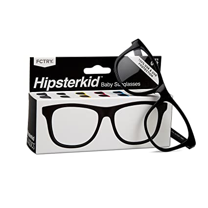 56c35312f21 Amazon.com  Hipsterkid Baby Opticals - Glasses w Strap - Kids Girl Boy -  Break It or Lose It Warranty (Black Clear UV)(Ages 0-2)  Baby