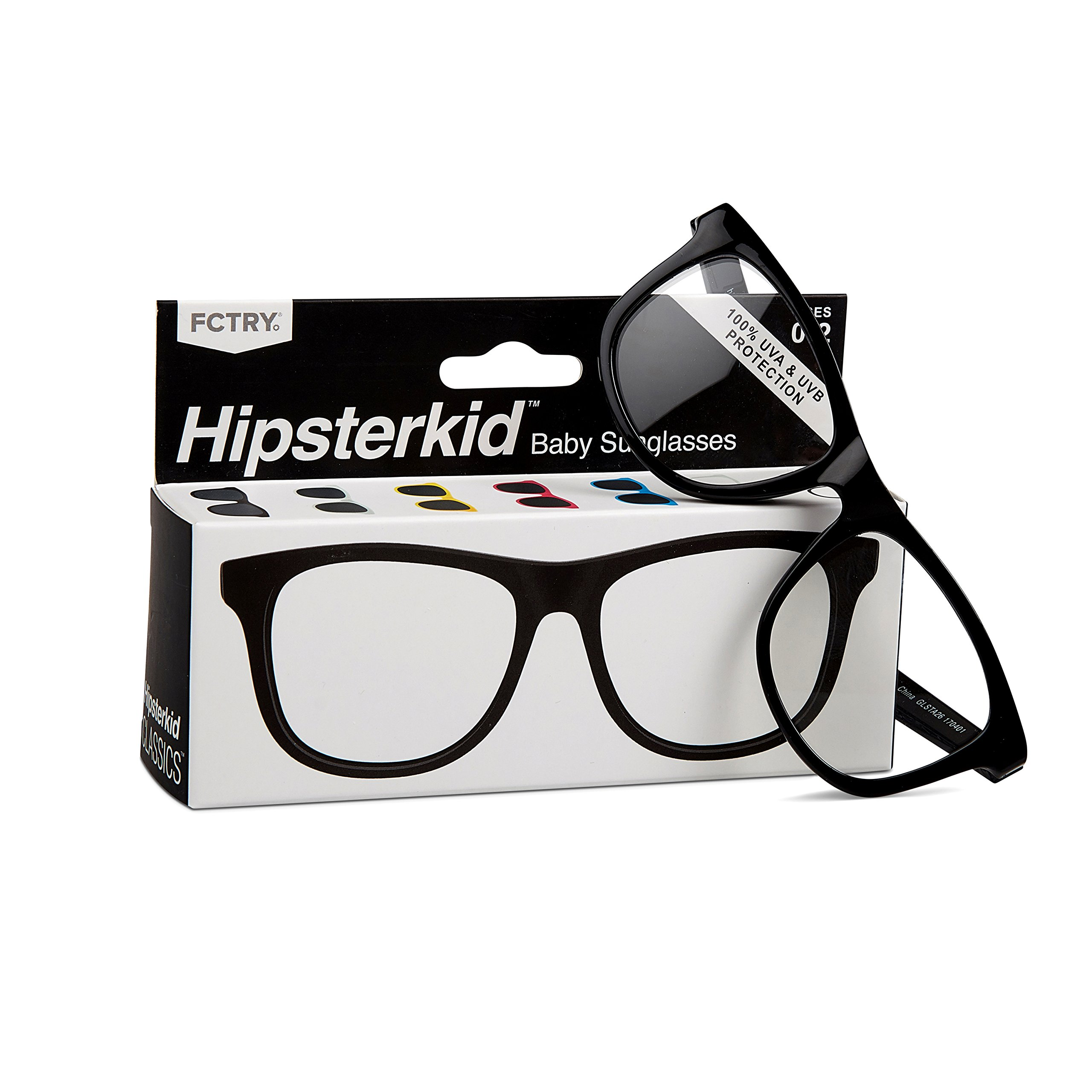 0f900378d83 Galleon - Hipsterkid Baby Opticals - Glasses W Strap - Kids Girl Boy -  Break It Or Lose It Warranty (Black Clear UV)(Ages 3-6)