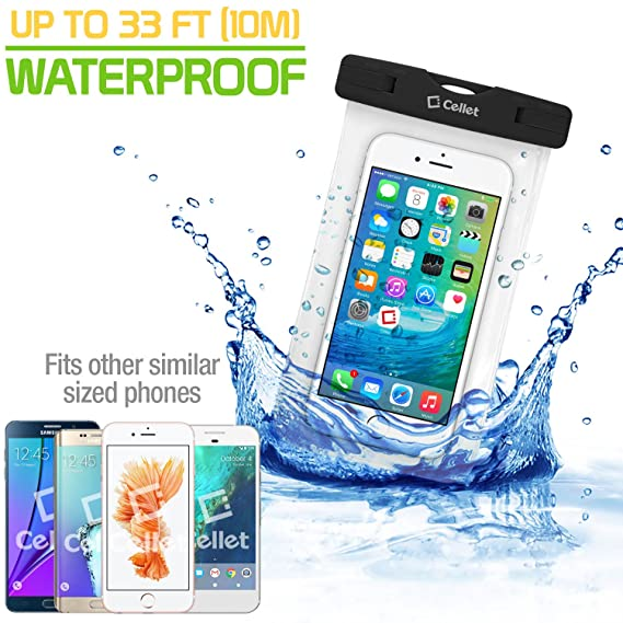 Amazon com: Cellet IPX8 Black Waterproof Case with 2 Snap