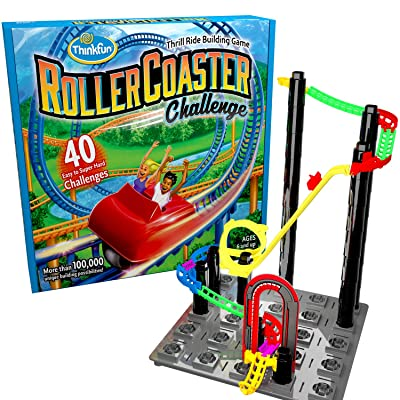 ThinkFun Roller Coaster Challenge STEM Toy and Building Game for Boys and Girls Age 6 and Up – TOTY Game of the Year Finalist: Toys & Games