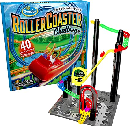 ThinkFun Roller Coaster Challenge STEM Toy and Building Game for Boys and Girls Age 6 and Up TOTY Game of the Year Finalist 1046