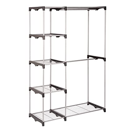 Nice Honey Can Do WRD 02124 Double Rod Freestanding Closet, 45L X 19W