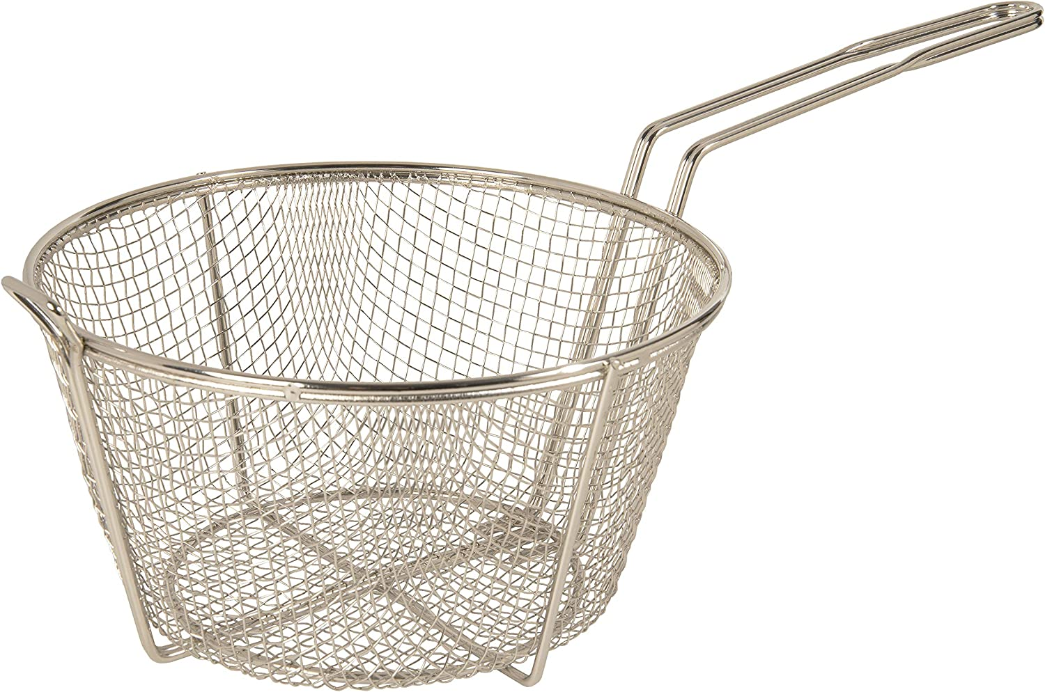 "Update International (FB-11) 11 1/2"" Round Wire Fry Basket"