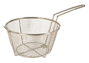 "Update International (FB-9) 9 1/2"" Round Wire Fry Basket"