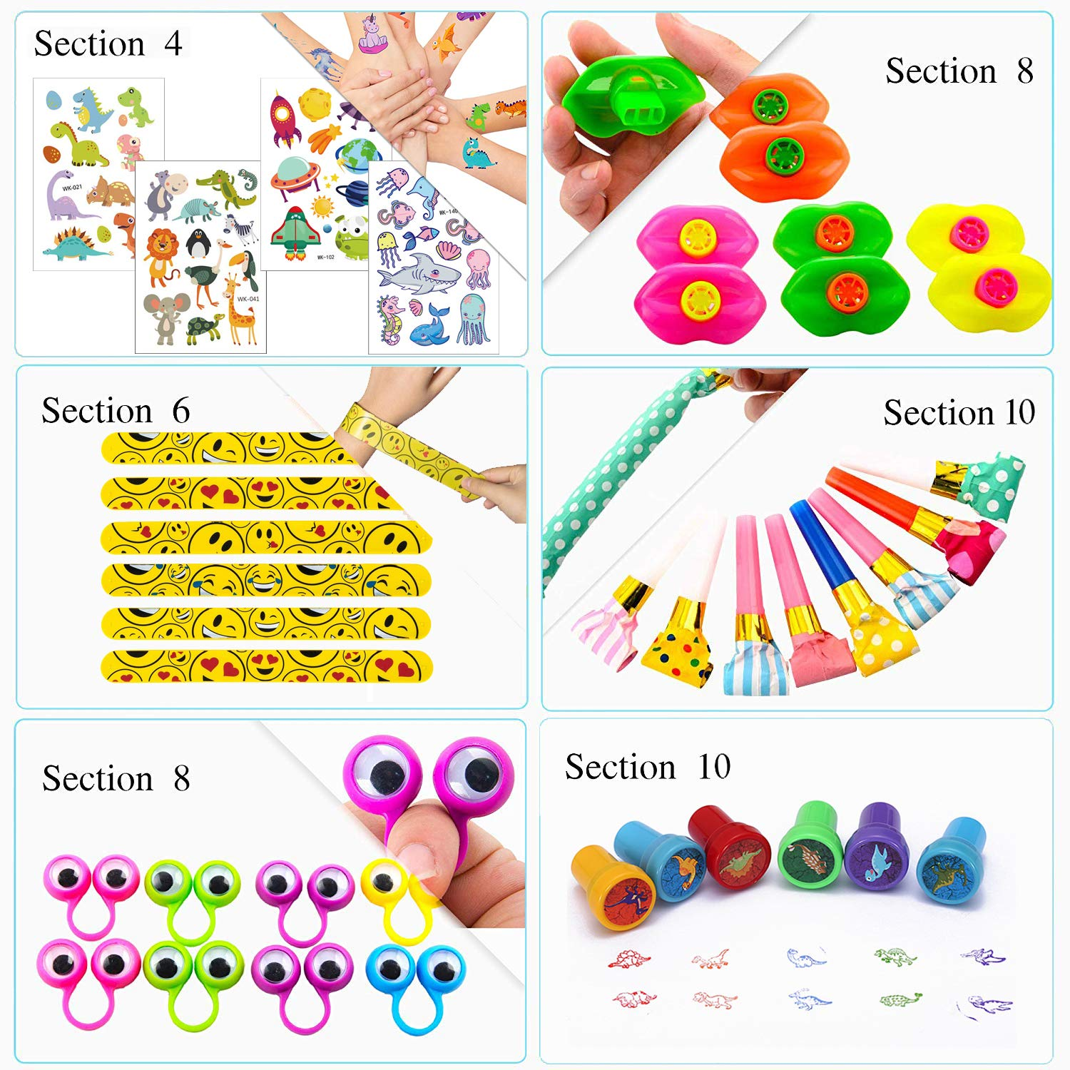 Easter Egg Stuffers Carnival Prizes 154PCS Carnival Prizes for Kids Birthday Party Favors Prizes Box Toy Assortment for Classroom Pinata Fillers