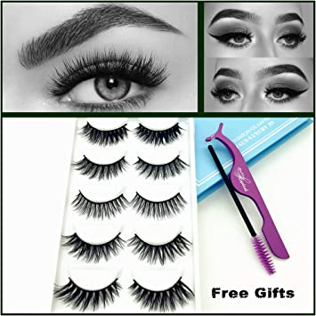 0641be2b43b Miss Kiss Brand 5 Pairs Different Style 3D Faux Mink Eye lashes Long Thick  Volume Dramatic