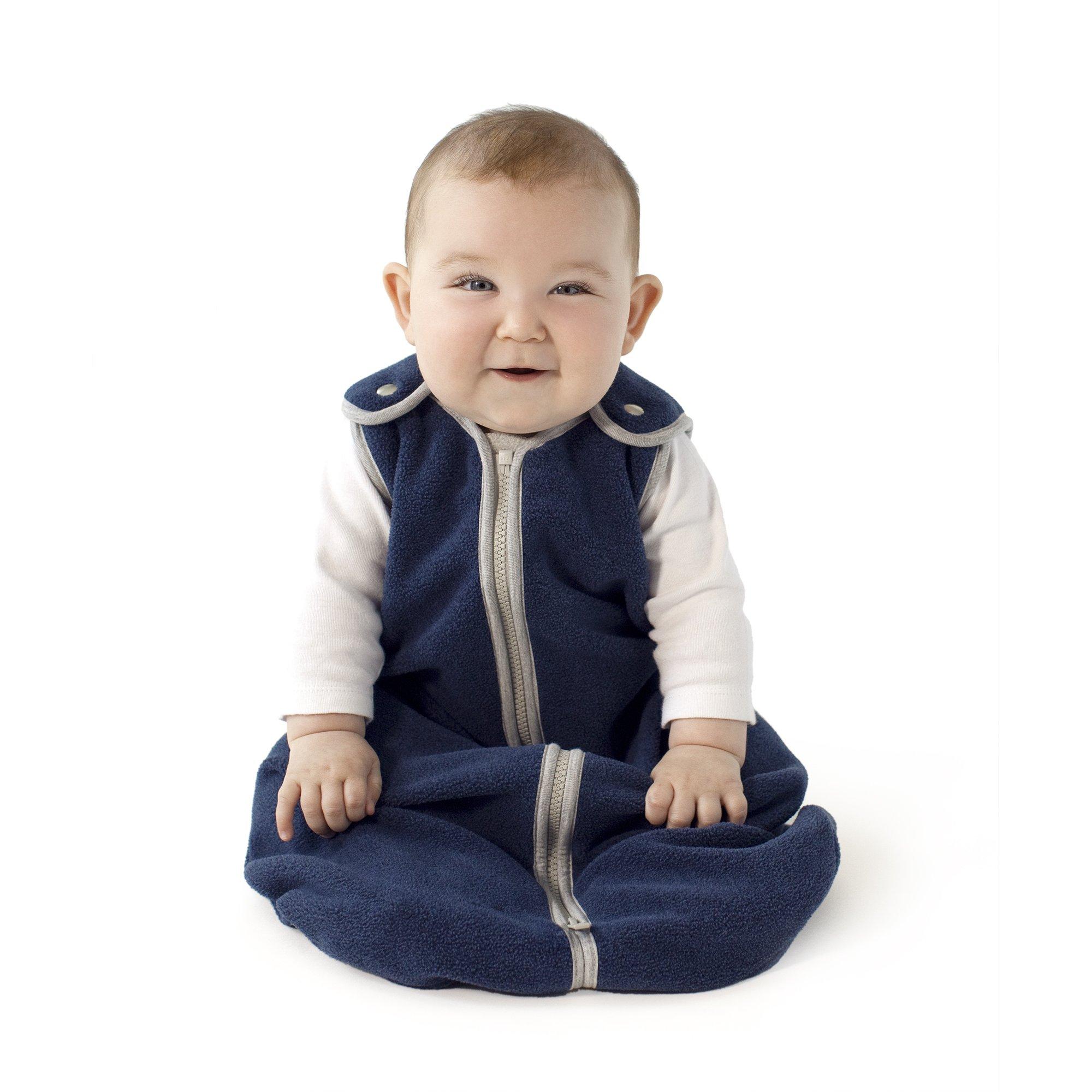Sleep nest Fleece Baby Sleeping Bag, Navy, Large by baby deedee