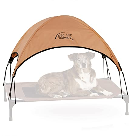 Amazon Com K H Pet Products Pet Cot Canopy Tan Large 30 X 42 Inches Pet Supplies