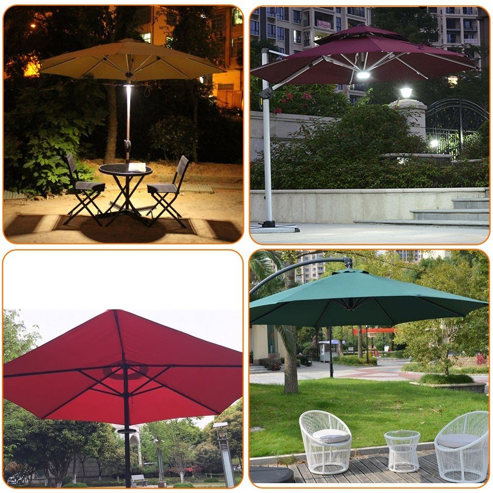 Umbrella Pole Light, ANENER Parasol LED Lights, Outdoor Lights for Easter, Large Size with 24 LED for Patio Umbrellas, Outdoor Use, Camping Tents, etc. (24 LED) by ANENER (Image #8)