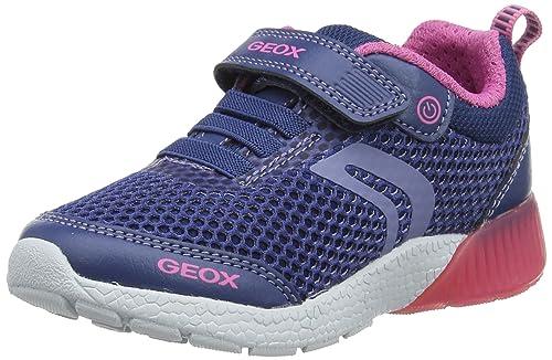 Geox Sveth A, Sneakers Basses Fille, Rose (Fuchsia), 32 EU