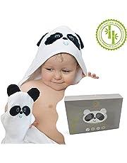 Accappatoio Asciugamano Panda Con Cappuccio e Guanto 100% In Bambù Biologico Adatto Per Tutti I Neonati e bambini fino ai 4 anni Extra Soffice DI Grande Dimensione Ideale Per Bagno Doccia Piscina