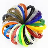 500 Linear Feet 3D Pen Filament Refills PLA 1.75mm With Unique Colors - 25 PACKS × 20ft, Free Ebook With Over 100 Free Stencils in U-Disk by ZIRO3D