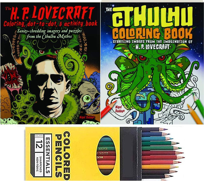 Color Lovecraft - Imágenes de libro para adultos Lovecraft Activity & Colorear Cthulhu con lápices de colores: Amazon.es: Juguetes y juegos