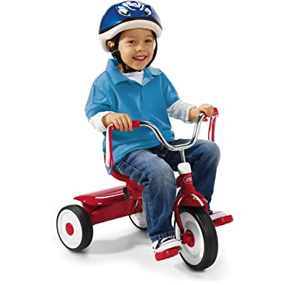 Radio Flyer Ready-To-Ride Folding Tricycle, Red / Controlled turning radius : Sports & Outdoors