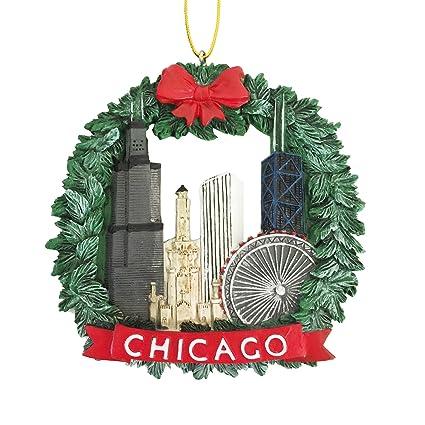 Chicago Wreath Christmas Ornament - Resin - Amazon.com: Chicago Wreath Christmas Ornament - Resin: Home & Kitchen