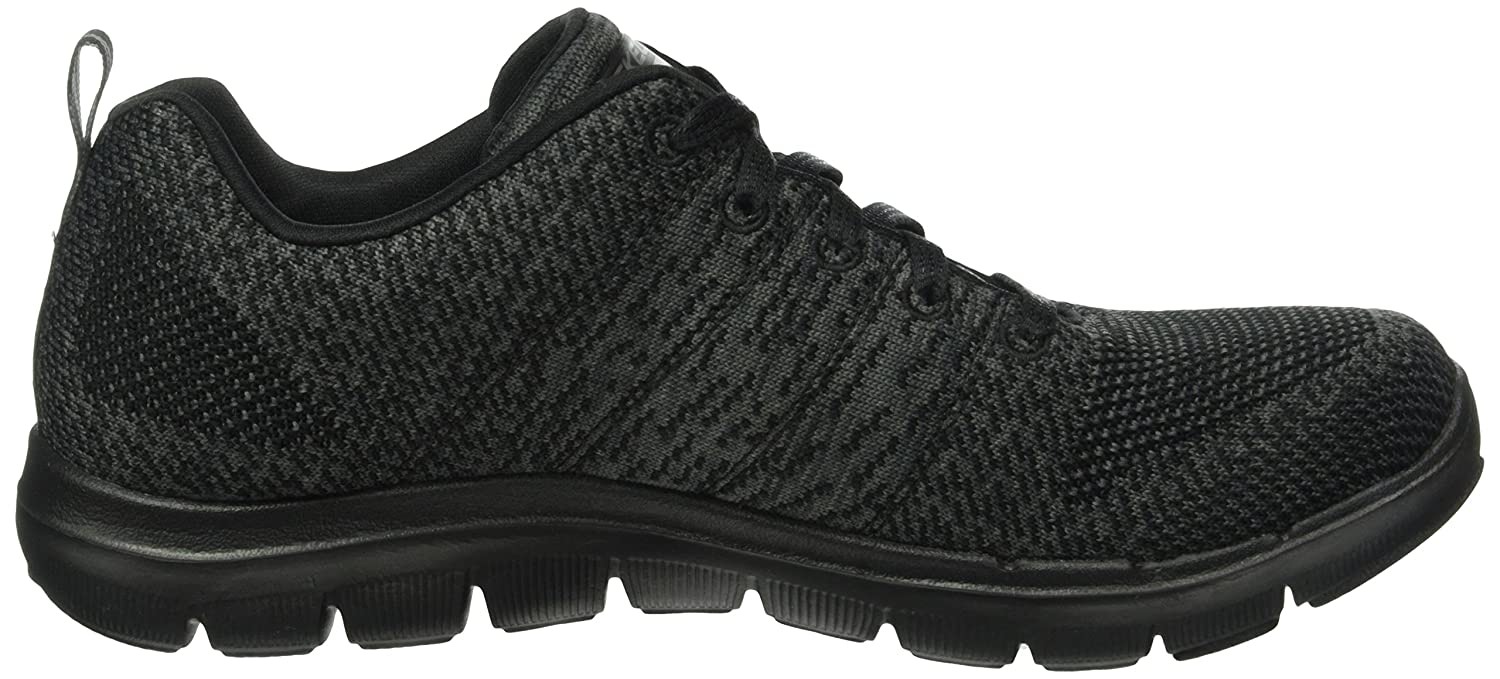 Skechers Damen Flex Appeal 2 Loud & Clear Niedrig-Top, EU Mehrfarbig, 38 EU Niedrig-Top, Schwarz Anthrazit f3a54c