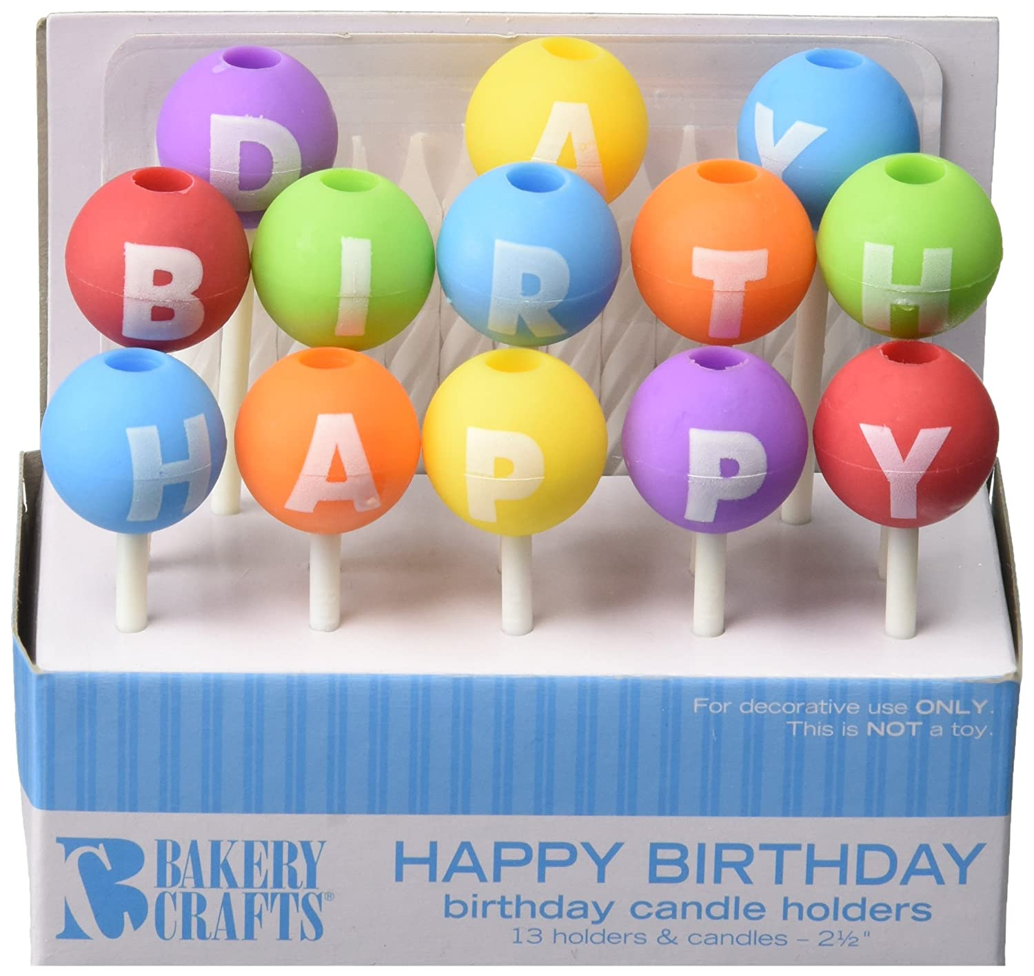 Amazoncom Oasis Supply Happy Birthday Letter Candle Holders with