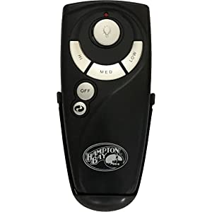Hampton Bay Remote Control UC7078T with Reverse and Hampton Bay Logo on