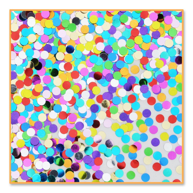 Pack of 6 Metallic Multi-Colored Pretty Polka-Dot Celebration Confetti Bags 0.5 oz.