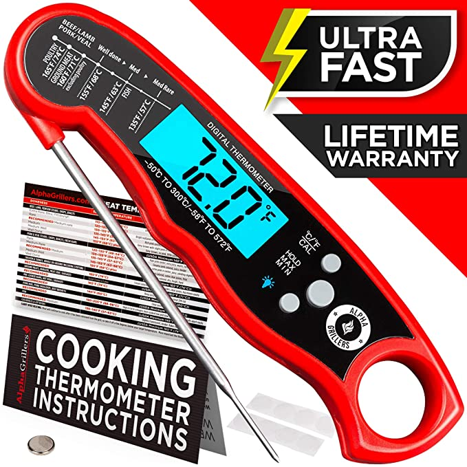 Alpha Grillers Instant Read Meat Thermometer – Best Basic Thermometer