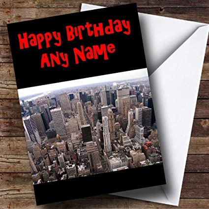 EEUU Nueva York Skyline Tarjeta de felicitaciones de cumpleaños ...