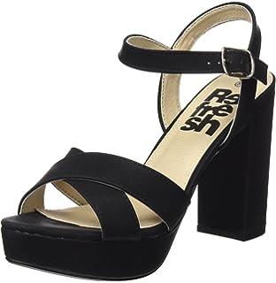 30753, Zapatos con Tacon y Correa de Tobillo para Mujer, Azul (Blue), 37 EU Xti