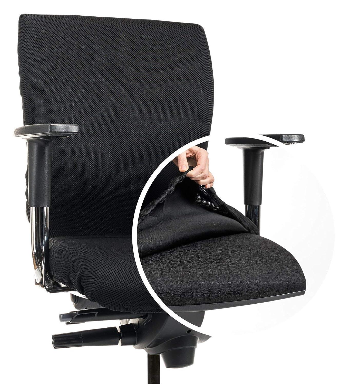 Copertura premium sedia da ufficio / copertura / fodera CLEANCHAIR.CC Superficie sedile standard: per superfici di sedili con ca. 40-52 cm di larghezza 40-52 cm di profondità Materiale maglia di poliestere 392g/m² lavabile a 60 gradi, permeabile all'aria e