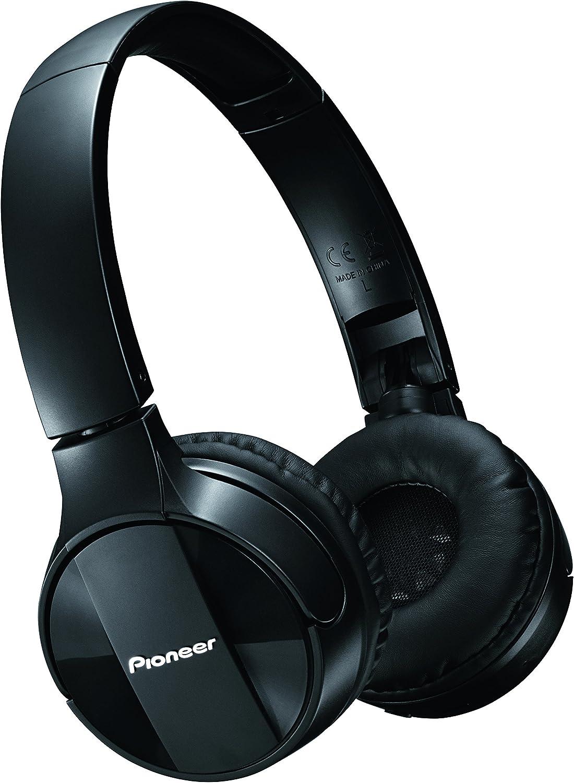 Pioneer SE-MJ553BT - Auriculares inalámbricos Bluetooth externos para smartphones Android, Windows y Apple, estéreo, con micrófono, 10 Hz a 22000 Hz, Negro