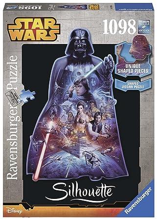 d62b9db22 STAR WARS - Darth Vader Silhouette Puzzle (Ravensburger 16158 4):  Amazon.es: Juguetes y juegos