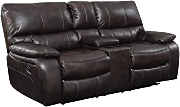 Coaster Home Furnishings Willemse Leather Motion Loveseat