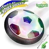 LENBEST Air Hover Ball Soccer, Juguete Balón de Fútbol, Juguetes Aire Fútbol con LED Luces Regalo para Niños y Mascotas (Bonus Mini Destornillador y Silbato)