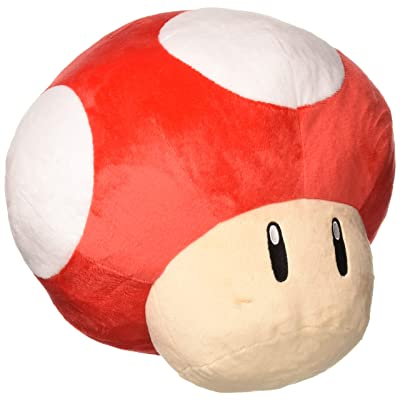 "Little Buddy USA Super Mario Series 11"" Large Super Mushroom Pillow Plush: Toys & Games"
